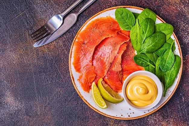 Cibo dietetico chetogenico, concetto di pasto sano, vista dall'alto, spazio copia.