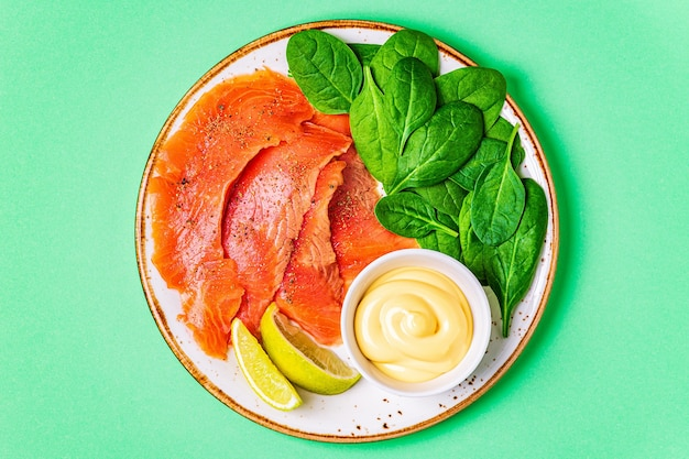 Cibo dieta chetogenica, concetto di pasto sano