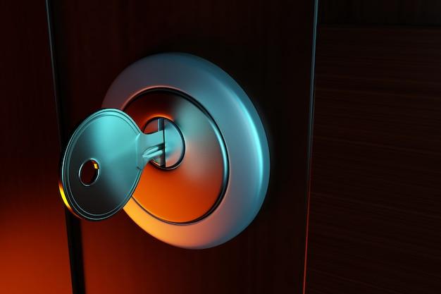 Chiave nel buco della serratura,