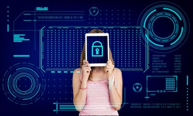 Blocco tasti password sicurezza protezione privacy grafico