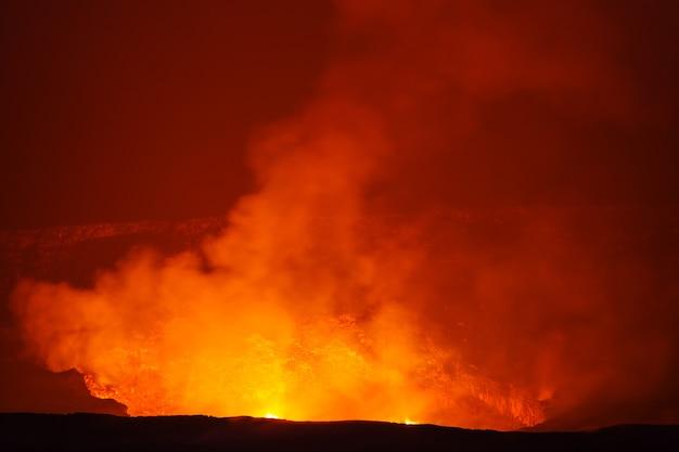 Vulcano attivo kilauea sulla big island, hawaii
