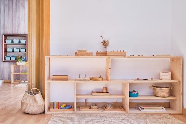 Interiore dell'aula della scuola materna della scuola materna