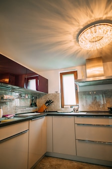La cucina dell'appartamento il design della cucina