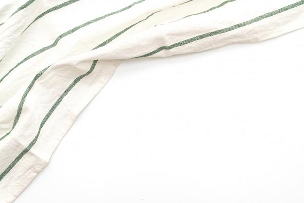 Panno della cucina (tovagliolo) isolato su bianco