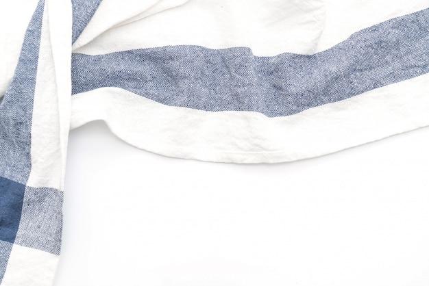 Panno da cucina (tovagliolo) su sfondo bianco