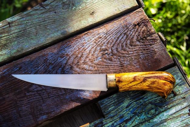 Coltello da cucina con manico in legno