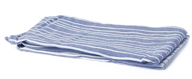 Asciugamano da cucina isolato su sfondo bianco, da vicino