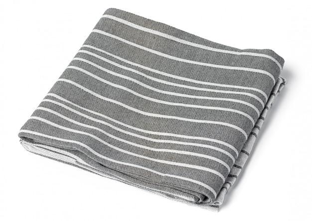 Asciugamano da cucina isolato su sfondo bianco Foto Premium