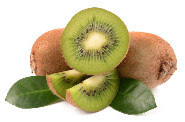 Kiwi su un bianco