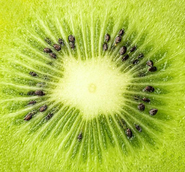 Fine di struttura della fetta del kiwi su