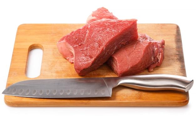 Coltello e carne