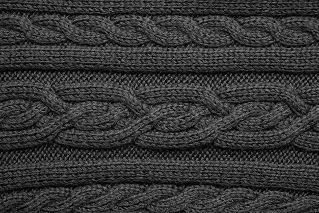 Trama di sfondo tessuto a maglia nera
