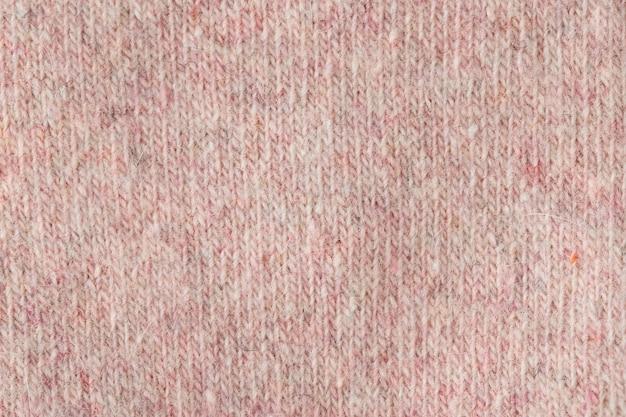 Tessuto di lana lavorato a maglia superficie anteriore sfondo tessile