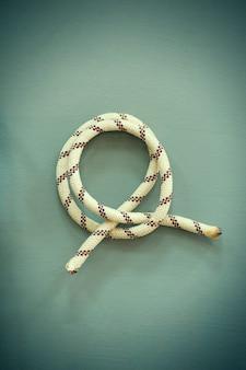 Nodo su una corda (foto in stile retrò).