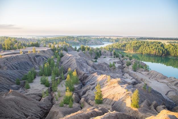 Konduki cave paesaggi nella regione di tula