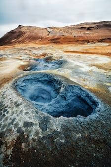Krafla geotermica di hverir, namafjall in islanda