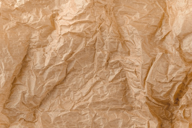 Texture di carta kraft. carta sgualcita marrone.