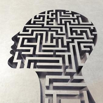 Labirinto nella testa, concetto di confusione