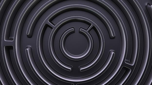 Tema del labirinto. vista dall'alto del labirinto rotondo.