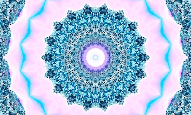Modello senza cuciture beige pizzo con fiori geometrici su sfondo rosa pastello