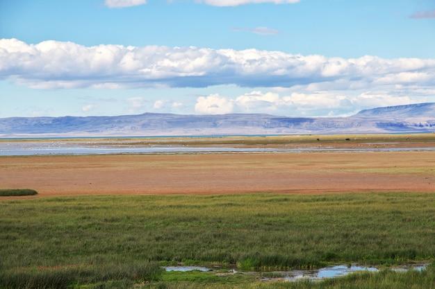 Lago argentino vicino el calafate in patagonia, argentina