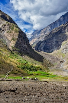 Lahaul valley, india