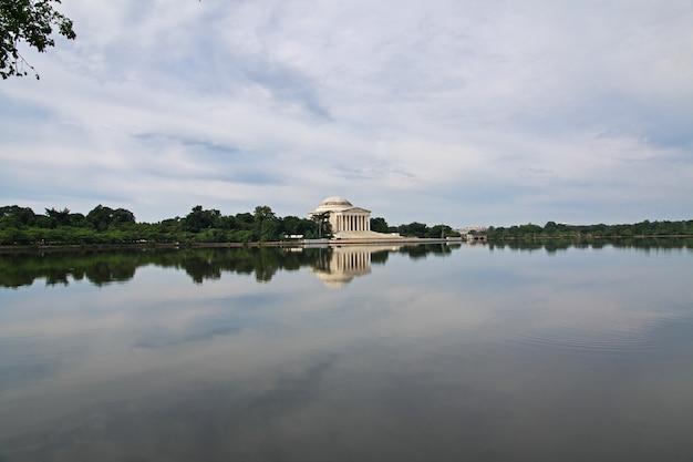 Il lago a washington, stati uniti