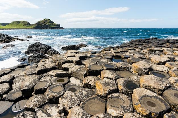 Landascapes d'irlanda. giant's causeway, irlanda del nord