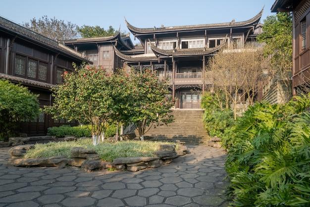 Paesaggio dell'architettura antica cinese