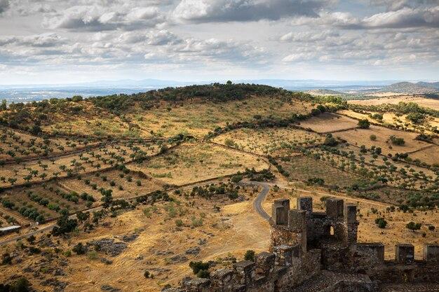 Panorama dal castello di miraflores. alconchel. spagna.