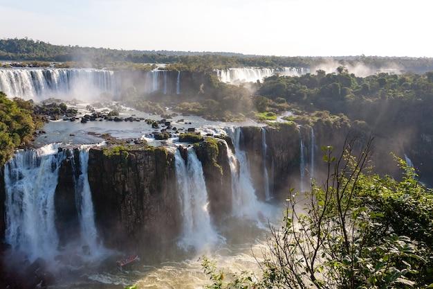 Paesaggio dal parco nazionale delle cascate di iguazu