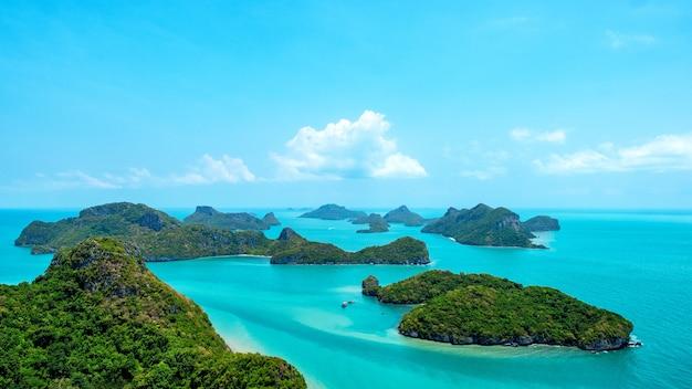Immagine del paesaggio di mu koh angthong, isola di samui, surat thani, thailandia