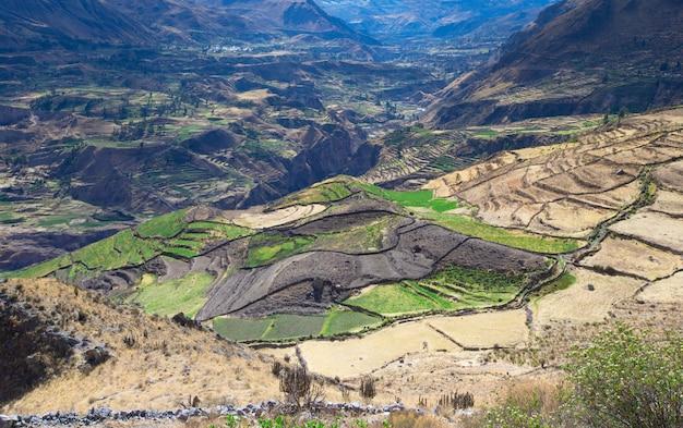 Paesaggio di montagne peruviane