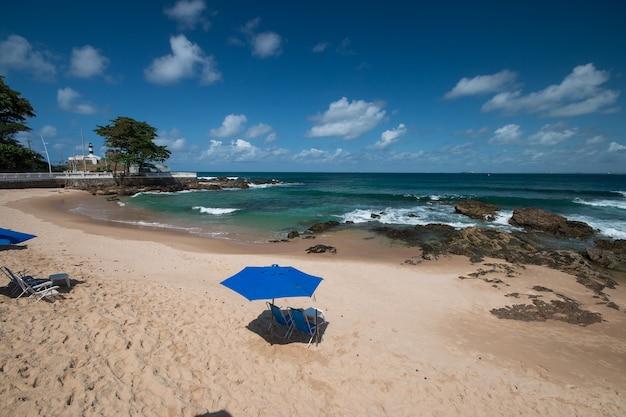 Paesaggio della spiaggia di porto da barra