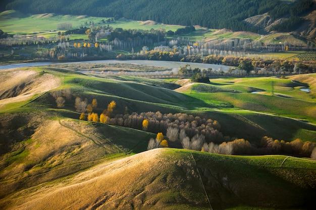 Paesaggio del paese della regione. te mata peak, nuova zelanda