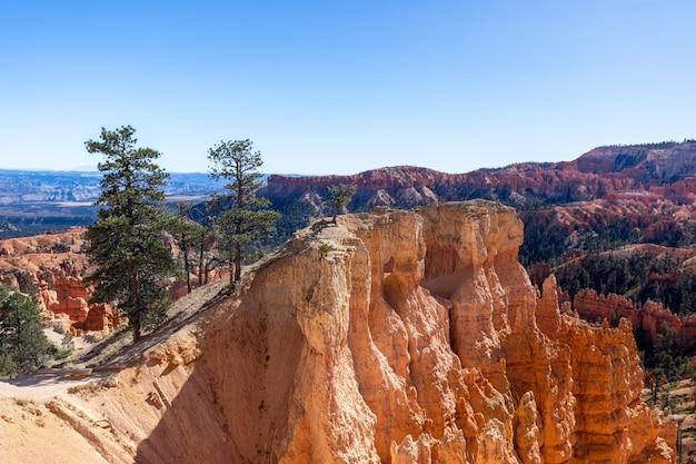 Paesaggio del pittoresco parco nazionale di bryce canyon. utah, usa