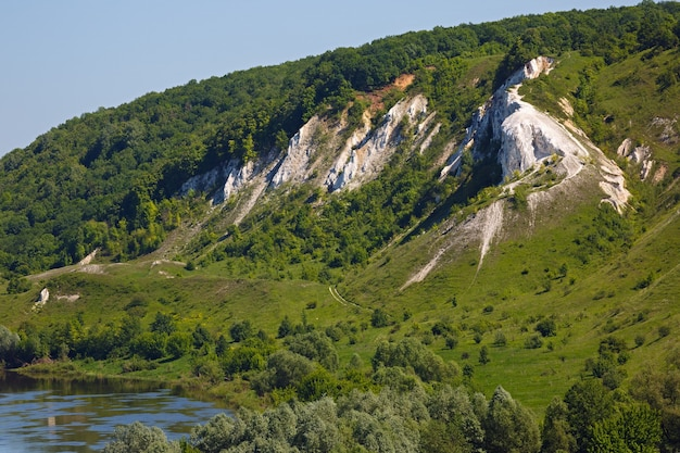 Paesaggio nella valle del fiume don nella russia centrale