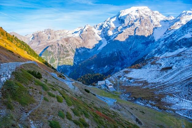 Vista del paesaggio delle montagne
