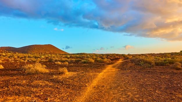 Paesaggio con sentiero, isola di tenerife, canarie