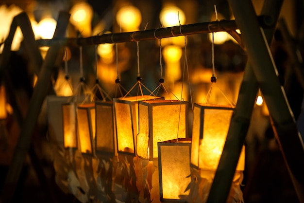 Lanterna a loy kratong o yee peng festival