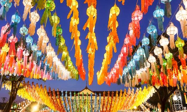 Lanterne in yee-peng festival, chiangmai thailandia