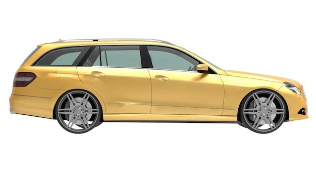 Grande giallo di affari di famiglia rendering 3d auto