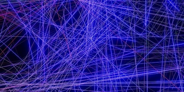 Effetto raggio laser su un'illustrazione 3d di sfondo nero