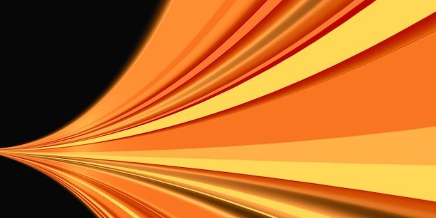 Linea retta del movimento della luce laser che emette rendering 3d