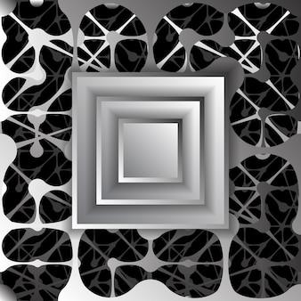 Reticolo senza giunte del reticolo con punti. texture infinita con disegno geometrico. sfondo vettoriale 3d