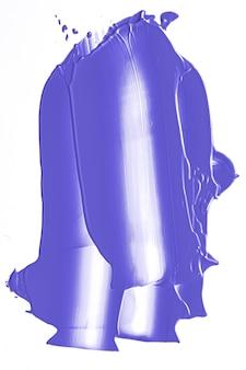 Struttura cosmetica di bellezza viola lavanda isolata su striscio o cosmesi di trucco sbavato sfondo bianco...
