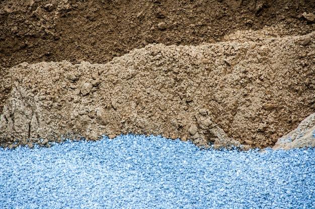 Strato di struttura del suolo di sabbia di pietra