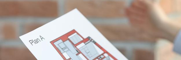 Layout e progettazione dell'appartamento sul concetto di servizi di interior designer di appartamenti di carta