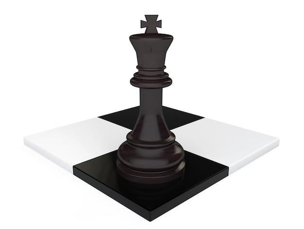 Concetto di direzione. re degli scacchi su sfondo bianco