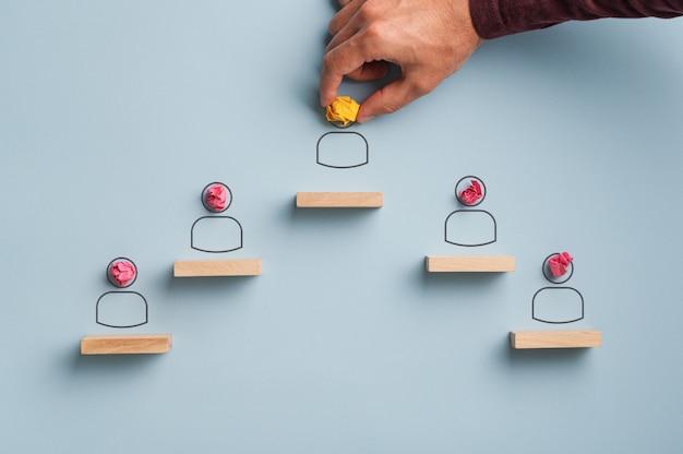 Immagine concettuale di leadership e risorse umane